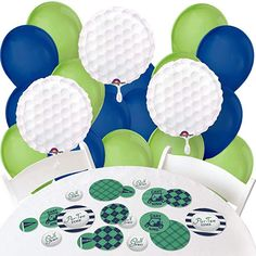Big Dot of Happiness Monkey Boy Confetti and Balloon Party Decorations Combo Kit