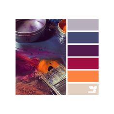 painterly hues ❤ liked on Polyvore featuring colors, backgrounds, color inspiration, color palettes and colour scheme