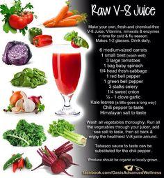 Raw V8 juice! Yum