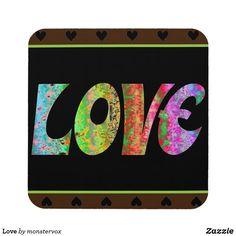 Love Beverage Coaster #Love #Emotion #Hearts #Relationship #Family #Home #Decor #Beverage #Drink #Coaster