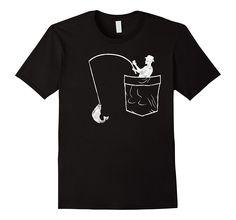 Cool Pocket Fishing Shirt Funny Fathers Day Gift Fisherman