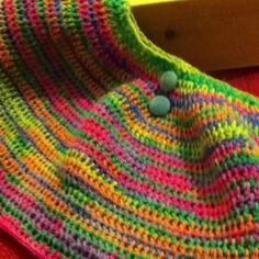 Rainbow crochet capplet