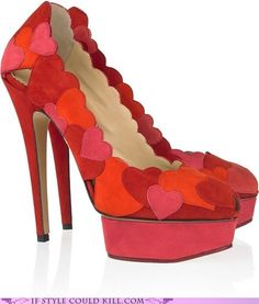 crazy shoes - hearts - Hearts Aplenty