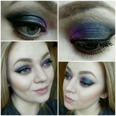 #face #makeup #eyeliner #blackandgold