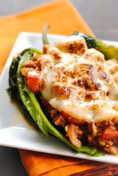 Picadillo Stuffed Chiles Rellenos - roasted poblano peppers stuffed with Cuban pork picadillo
