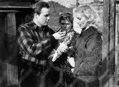 "Marlon Brando and Eva Marie Saint in ""On the Waterfront"" (1954)"