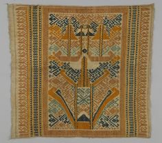 ceremonial cloth, Tampan, Indonesia, Sumatra, 19th century, cotton