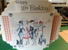 Birthday card made using serif and some tonic dies