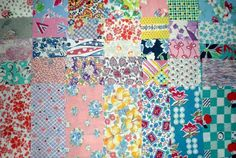 Vintage Feedsack Fabric Scraps 1930's 1940's Quilting Medium 35 Pieces Crafts by CozyKittenQuilts on Etsy #FabricScissors Fabric Shears, Fabric Scissors, Patchwork Fabric, Scrap Fabric, Quilting Fabric, Fat Quarter Quilt, Buy Fabric Online, Tie Quilt, Vintage Quilts