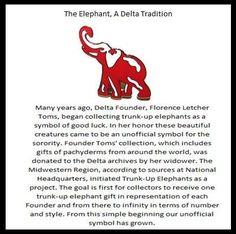 Why elephants? Now ya know! Delta Sigma Theta Gifts, Alpha Kappa Alpha Sorority, Sorority And Fraternity, Sorority Life, Sorority Pictures, Delta Girl, Elephant Love, Thats Not My, My Love