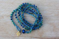 Items similar to Beachy Crochet Wrap Bracelet ,Jewel Tones Denim Blue Bohemian Jewelry on Etsy Bracelets Bleus, Fabric Bracelets, Fabric Jewelry, Beaded Bracelets, Crochet Bracelet Pattern, Bead Crochet, Bracelet Patterns, Bijoux Agate, Bijoux Diy