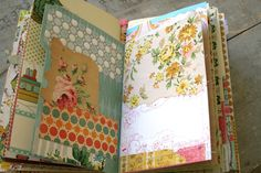 pam garrison journal....lovely vintage wallpaper + bits and pieces