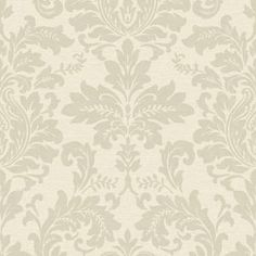 Gran Deco Hyde Park Wallpaper - Cream at Homebase -- Be inspired and make your house a home. Buy now. Wallpaper Lounge, Cream Wallpaper, Damask Wallpaper, Hyde Park, Outdoor Living, Castle, House, Hallway Ideas, Wall Ideas