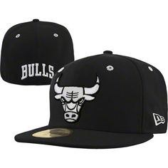 Chicago Bulls New Era 59FIFTY NBA Team Exclusive Fitted Hat - Black & White $36.99