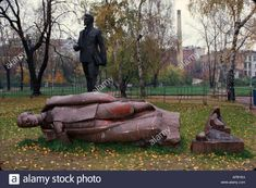 After the fall of the Soviet Union, the red marble statues of Lenin and Stalin, in Moscow, were pulled down. However, these statues were mov. World History, Public Art, Garden Sculpture, Wood, Outdoor Decor, Painting, Image, Soviet Union, Monuments