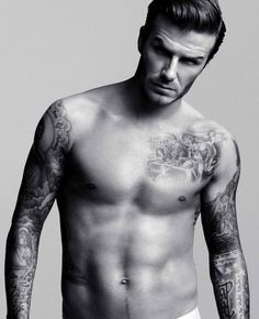 David Beckham... Makes me want to watch soccer.