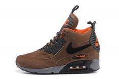 online retailer 400b1 c30ca Nike Air Max 90 Sneakerboot Men s Running Shoes Brown Black  684714-020