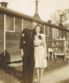 These are my parents, Huey and Agnes Hamilton, who were married in They are both of Jasper, AL. They were married at Ft. McClellan on the Army base. He was on leave from the Navy. They passed away 20 years ago but had a wonderful love story! Vintage Photographs, Vintage Photos, Vintage Stuff, Sailor Jerry, Vintage Romance, Old Photos, Share Photos, Old Love, Young Love