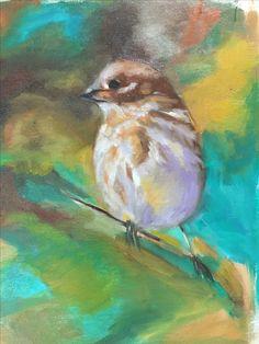 Bird study. Oil on board. 2015