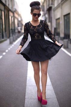 lace skater dress | Tumblr