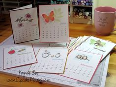 A Muse Calendar Pages by krystie lee - Cards and Paper Crafts at Splitcoaststampers Calendar Pages, Desk Calendars, Flip Calendar, Calendar Printable, Calendar Ideas, Calendar 2020, Christmas Card Crafts, Christmas Calendar, Christmas Greetings