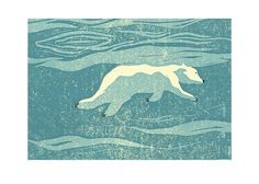 Polar bear swimming etsy