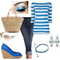 Blue stripes and espadrilles