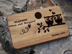 Personalized cutting board  Wedding gift for couple  by Vyroby