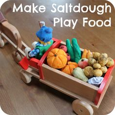 We have had harvest time on our toy farm... Salt Dough is such great material for making any toys with children: it's cheap and easy to put together. All you need is: 300 g plain flour 300 g salt 1...