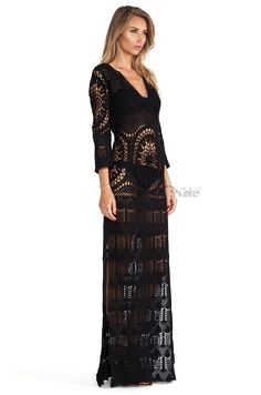 Летнее платье крючком от Lisa Maree. #crochet_summer_dress  #Lisa_Maree    #crochet_black_dress