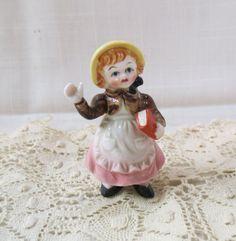 Vintage Nursery Rhyme Figurine Bone China Germany Porcelain Hand Painted by KansasKardsStudio on Etsy