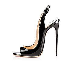 a8d89404a99b Women s Patent Leather Summer   Fall Stiletto Heel Black   Wedding   Party    Evening   Party   Evening. Damenschuhe Sandalen ...
