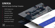 Unika   Responsive Material Design Joomla Template
