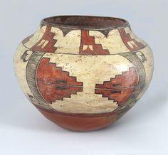 Large Zia storage jar Native American Artwork, Native American Design, Native American Pottery, Native American Artifacts, American Indian Art, Pottery Sculpture, Pottery Art, Vases, Southwest Pottery