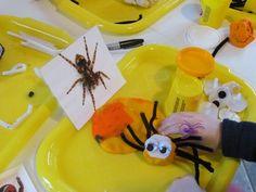 DIY Eyeballs and Play Dough Spiders by Teach Preschool