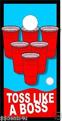 Beer Pong Red Solo Cup  Cornhole Board Game Decal Wraps LAMINATED