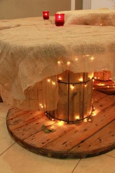 Wooden Cable Reel Reuses