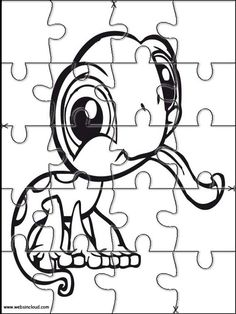 Printable jigsaw puzzles to cut out for kids Littlest pet shop 19 Coloring Pages