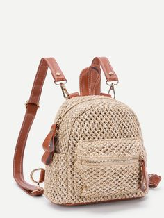 Best 11 Eye-Catching Crochet Pattern Ideas For Everyone 2019 best crochet bag pack set The post Eye-Catching Crochet Pattern Ideas For – SkillOfKing. Crochet Backpack Pattern, Free Crochet Bag, Diy Crochet, Tutorial Crochet, Crochet Handbags, Crochet Purses, Mini Backpack, Backpack Bags, Pinterest Crochet