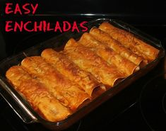 Share Tweet + 1 Mail This is a simple recipe for enchiladas that I have made several times.  It's quick and easy.  I sometimes ...