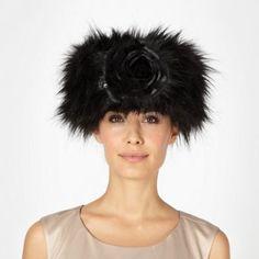 Top Hat by Stephen Jones Designer black wool blend cossack hat- at Debenhams.com