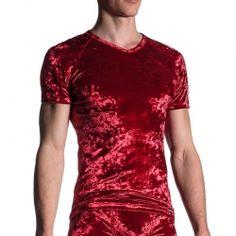 MANSTORE T-SHIRT modern ROYAL VELVET Fashion M656 Club Wear bordeaux