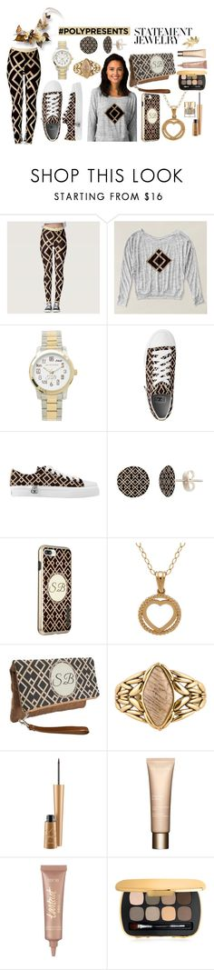 """""""#PolyPresents: Statement Jewelry"""" by keishadowdy on Polyvore featuring Barse, Mariah Carey, Clarins, tarte, Bare Escentuals, Smith & Cult, contestentry and polyPresents"""