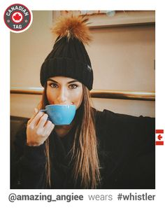 """Rock the """"après-ski"""" in style with our beanie! 3 colors available. Whistler, Apres Ski, Ear Warmers, Beanie Hats, Passion For Fashion, Winter Fashion, Winter Hats, Canada, Fur"""