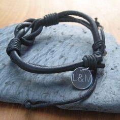 Unisex Leather Bracelet #Bracelet #LeatherBracelet #PersonalisedBracelet #FathersDay £15.99