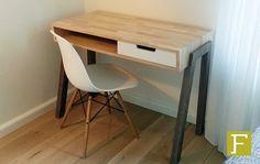 bureau maatwerk design noten notenhout rubberwood retro meubelmaker fijn timmerwerk hillegom