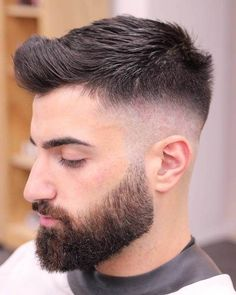 101 Short Back & Sides Long On Top Haircuts To Show Your Barber in 201 – Regal Gentleman Mens Haircuts Quiff, Mens Hairstyles With Beard, Cool Hairstyles For Men, Best Short Haircuts, Hair And Beard Styles, Haircuts For Men, Short Hair Styles, Men's Hairstyles, Female Hairstyles