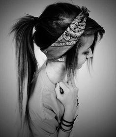 Scene hair. Cute ponytail