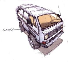 VW drawing Vw Bus T3, T3 Camper, Volkswagen Bus, Vw T1, T3 Doka, Vw Vanagon, Transporter T3, Combi Vw, Vans Logo