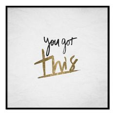 Oliver Gal You Got This Framed Whiteboard - 19587_12X12_WHBD_THINBK
